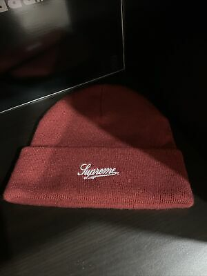 $ CDN48.59 • Buy 100% AUTHENTIC Burgundy Supreme NYC 9/11 Embroidered Box Logo Beanie Maroon Red