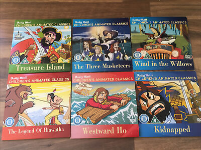 £4.49 • Buy Daily Mail Childrens ANIMATED CLASSICS Promo Dvd's X 6 Bundle.