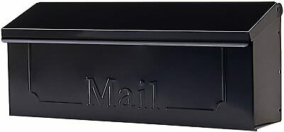 $18.95 • Buy Wall Mount Black Mail Box Heavy Duty Galvanized Steel Extra Large Mailbox Home