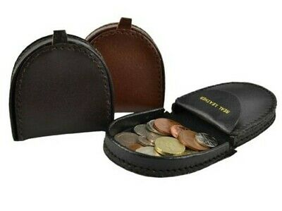 $11.70 • Buy Mens Small Handy Leather Coin Tray/Purse Wallet In 3 Colours Change Holder