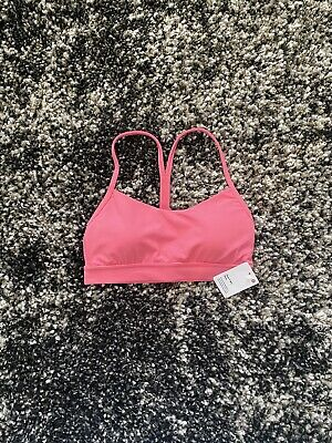 $ CDN24.37 • Buy NWT Lululemon Flow Y Bra In Guava Pink! Size 4!