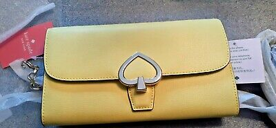 $ CDN50.34 • Buy  Kate Spade Grain Leather Robyn Small Flap Chain Wallet- Limelight-NEW W/ TAGS