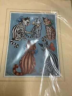 £12.50 • Buy Louis Wain Water Colour Print Picture Cats