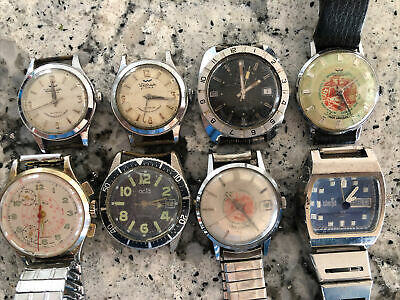 $ CDN77.49 • Buy Men's Vintage Watch Lot Waltham Rego Acta Timex Divers Chronograph Iron Workers
