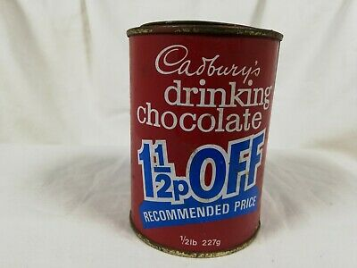 Vintage Empty Cadburys Drinking Chocolate Tin With Lid • 14.50£