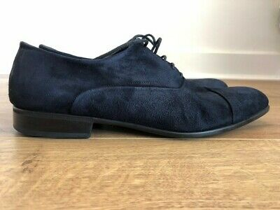 £54.99 • Buy MORESCHI Mens Luxury Shoes - Navy Suede Size 7.5 EU/UK Made In Italy