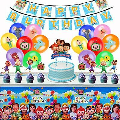 $25.75 • Buy Cocomelon Birthday Party Supplies Party Decorations Kit For Boys Girls Includ...