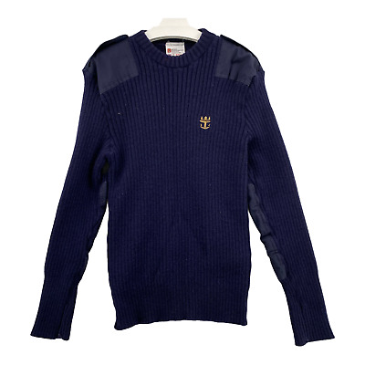 $28.69 • Buy Brigade Quartermasters The Woolly Pully Sweater Mens Sz 2XL Blue England Ribbed