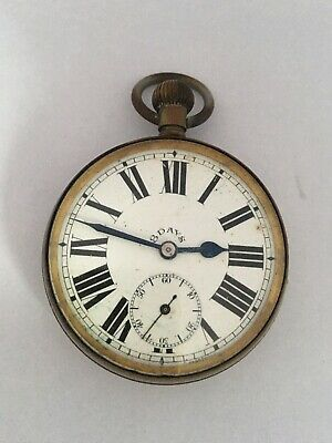 AU630.75 • Buy Antique Silver Plated 8 Day Pocket Watch For Spares Or Repair
