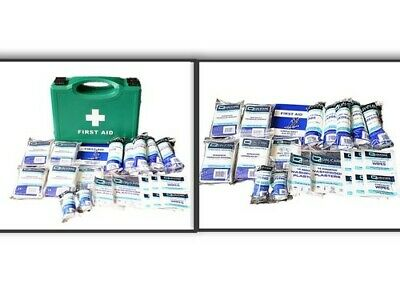 £8.95 • Buy Standard HSE Compliant 10 Person First Aid Kit EITHER Refill Only Or Full Box