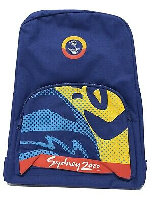£26.40 • Buy Sydney 2000 Olympic Games Back Pack (backpack) - BNWOT Black Blue Yellow Red