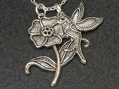 $ CDN1.24 • Buy Hummingbird And Lotus Flowers CHARMS ONLY NO Necklace *16*
