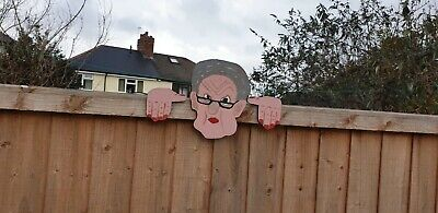 £13.50 • Buy Garden Fence Peekers / Wall Plaques Free P&p