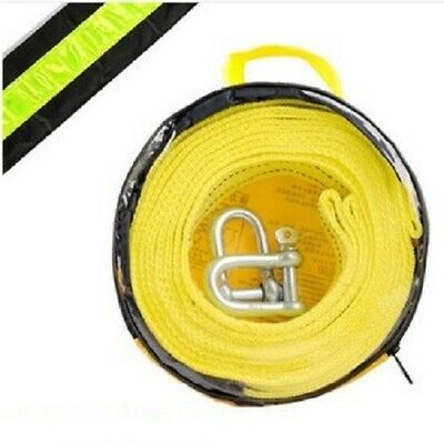 $8.39 • Buy 5T/11000lbX5M/16' With Reflective Stripe Towing Rope Tow Webbing Sling Visible A