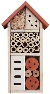 £8.50 • Buy Big Wooden Insect Hotel Garden Bug House Bee Beetle Butterfly Moth Shelter 9013