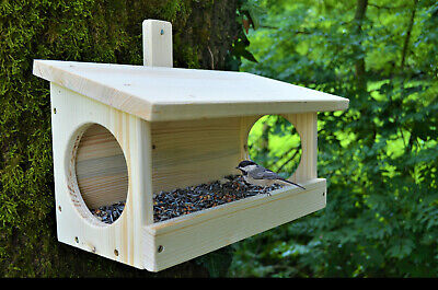 £12.95 • Buy Large Natural Wooden Wall Mounted Small Bird Garden Feeding Table Shelter 9010