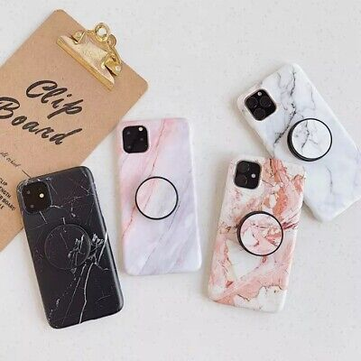 AU19.95 • Buy IPhone 11 Marble Case IMD Fashion Grip Stand Holder Soft TPU