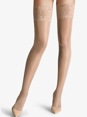 Wolford Satin Touch 20 Denier Stay Ups Cosmetic Color (S, M, L All Available) • 19.99£