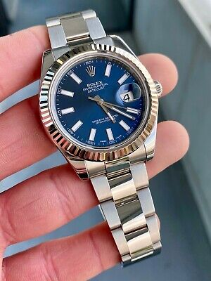 $ CDN12130.29 • Buy 2015 Rolex Datejust II Blue Dial 116334 W/ Box & Papers