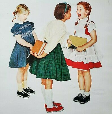 $ CDN12 • Buy The Best Of Norman Rockwell 40 Full Color Poster Book 1979 Edition Frameable *HC