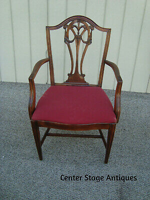 $525 • Buy 59238 Set Of 4 Antique Mahogany Shield Back Dining Room Chairs