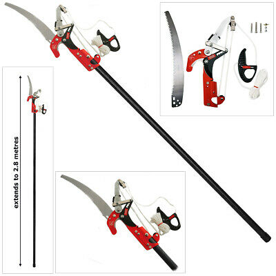 £39.95 • Buy HEAVY DUTY 2.8m TELESCOPIC EXTENDABLE RATCHET TREE BRANCH PRUNER LOPPER WITH SAW