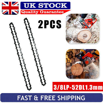 £9.69 • Buy 2Pcs 14inch 52 Drive Links Chainsaw Saw Chain Parts Tool Chainsaw Blade New~UK