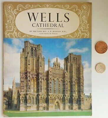 Wells Cathedral Guide Book Pictorial History Somerset Illustrated Vintage 1960s • 3.50£