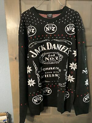 $100 • Buy Jack Daniels Tennessee Whiskey Ugly Christmas Sweater Size 2xl Mens