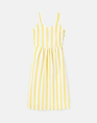 £14.36 • Buy Joules Womens 215645 Side Button Strappy Dress - White Yellow Stripe