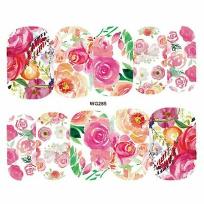 £1.45 • Buy Nail Art Water Decals Transfers Wraps Spring Summer Flowers Floral Rose (WG285)