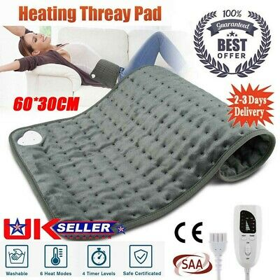 £18.98 • Buy Electric Heating Pad Heated Therapy Fast Neck/Shoulder/Back Pain Relief Auto Off