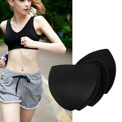 £3.57 • Buy 3* Pairs Of Pads Removable Inserts Push Up Cotton Replacement Soft Sports Bra