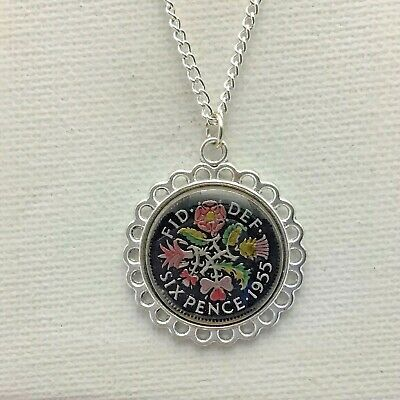 Sixpence Birthday Anniversary Owl coin pendant plus 20inch chain
