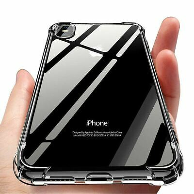 AU4.04 • Buy Clear Case For IPhone 12 11 Pro Max XR XS 7 8 SE Shockproof Silicone Protective