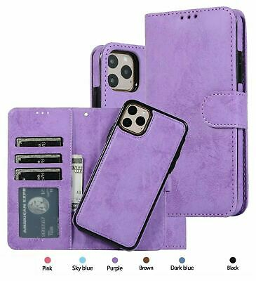 AU15.74 • Buy For IPhone 11 Case Pro MAX XS XR 6 7 8 Magnetic Leather Removable Wallet Cover