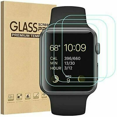 AU12.14 • Buy 3x GLASS Screen Protector For Apple Watch Series SE 6 5 4 3 38/42/40/44mm IWatch