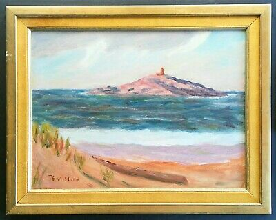 $127.50 • Buy Vintage Maine Coastal Abstract Oil Painting~signed- Look !