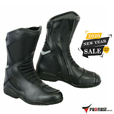 £49.99 • Buy Motorbike Motorcycle Leather Boots Waterproof Armoured Touring Shoes Black
