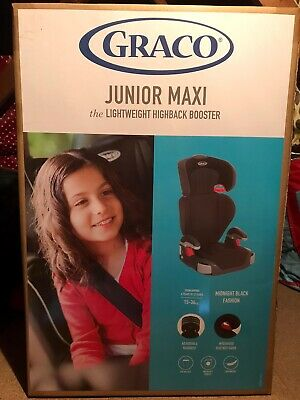 £15 • Buy Graco Junior Maxi Lightweight 4-12 Years Kids High Back Booster Car Seat - Black