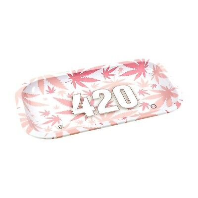 £7.99 • Buy Rolling Tray Baby Pink Leaf Jamaica Rasta Collector Metal Rolling Tray Large