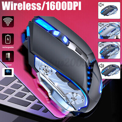 AU16.44 • Buy LED Wireless Gaming Mouse USB Ergonomic Optical For PC Laptop Rechargeable+Pad