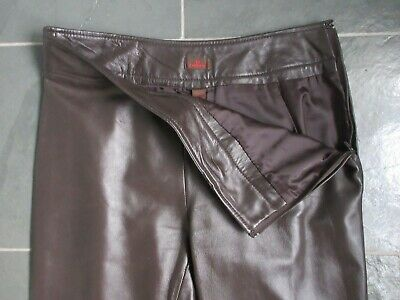 $ CDN95 • Buy DANIER Made In CANADA Brown Real Genuine Leather Lined Pants Size 8
