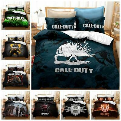 £25.33 • Buy Call Of Duty COD Game Quilt Duvet Cover 2Pcs Bedding Set Single Double King Size