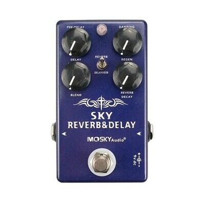 $ CDN122.21 • Buy MOSKY Digital Guitar Multi  Effect Pedal Reverb & Delay 2in1