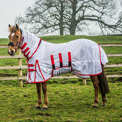 £34.51 • Buy Derby House Classic Horse Rug Fly - White Red All Sizes