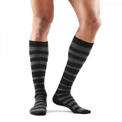 £19.99 • Buy Skins Mens Recovery Compression Socks Black Grey Sports Running Gym Breathable