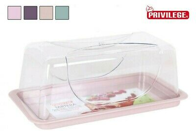 Bread Bin Carrier Plastic Cake Storage Container Rectangular ASSORTED COLOURS • 11.99£
