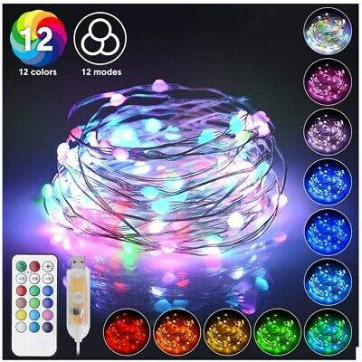 $4.99 • Buy 10M 100LED Strip String Fairy Light Waterproof Home Party Decorative Lamp Gift