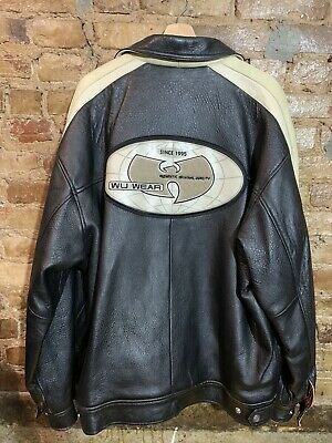 $ CDN1455.78 • Buy Vintage Wu Wear Wu Tang Worldwode Leather Jacket Size 2X